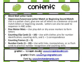 Frog Theme Math & Literacy Mega Pack ~ ABC, Numbers, Patterns, etc.