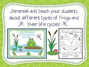 Frog Morning Message - CCSS aligned teaches editing and reading