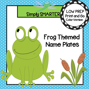 Frog Themed Desk Name Plates with Alphabet and Numbers (1-20)