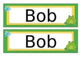 Frog Name Tags Desk Plates - Editable
