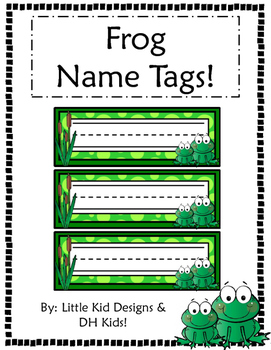 graphic regarding Printable Name Tags called Frog Standing Tags - Printable Popularity Tags