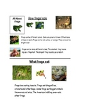 Frog Nonfiction text and graphic organizer