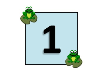 Frog Number Cards (Library signs, group signs, etc)