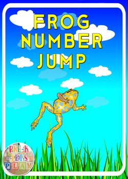 Frog Number Jump: Free Printable Number Flashcards