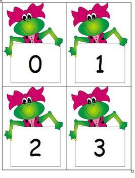 Frog Number Line/Flash Cards 0 - 180