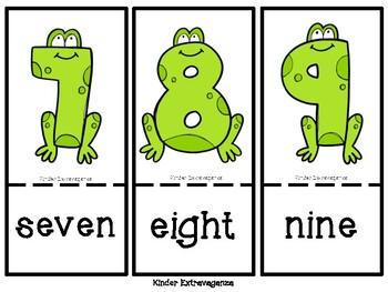 Frog Number Match 1-10 FREEBIE!