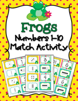 Frog Number Match Activity