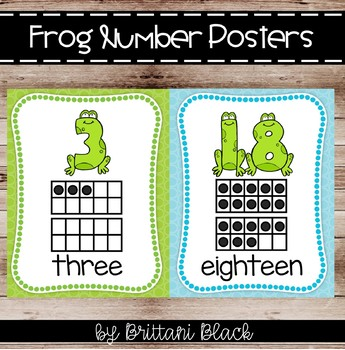 Frog Number Posters (0-20)