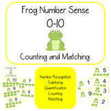 Building Number Sense (0-10) with Frogs: Counting, 1:1 Mat