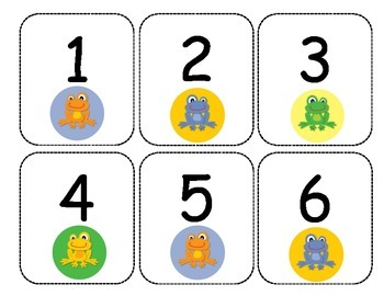 Frog Number cards 1-180