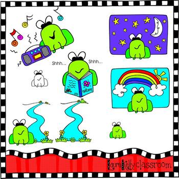 Frog Clip Art Opposites