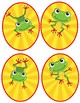 Frog Oval Cut-outs