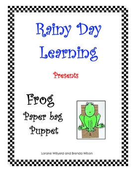 Frog Paper Bag Puppet