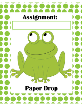 Frog Paper Drop