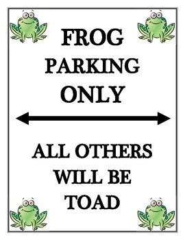 Frog Parking Sign