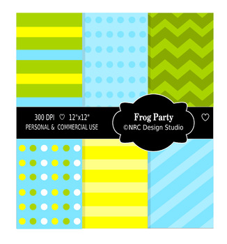 Frog Party Paper Pack