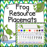 Frog Theme Classroom Placemat