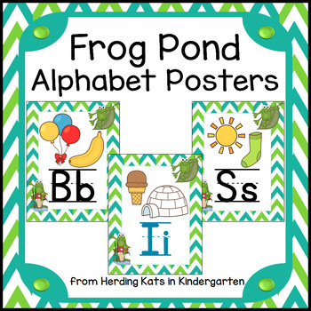 Frog Pond Alphabet Posters