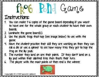 Frog Pond Game (Open-Ended)