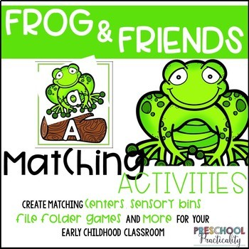 Frog Pond Life Theme Match and Clip Card Bundle for Toddlers, Preschool, PreK