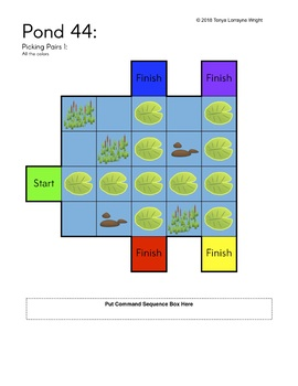 Frog Pond Programing Growing Bundle - An Unplugged STEM Coding Activity