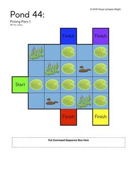 Frog Pond Programing Growing Bundle - An Unplugged STEM Coding Activity