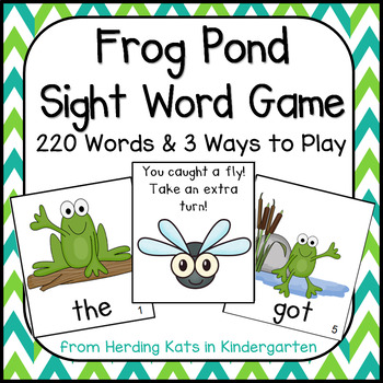 Frog Pond Sight Word Game (Dolch Word Lists 1-11)