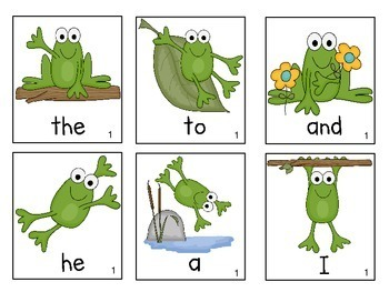 Frog Theme Sight Word Games