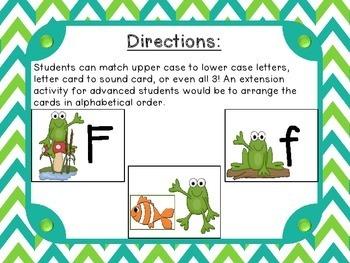 Frog Pond Themed Alphabet Match-Up