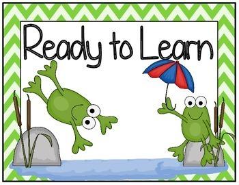 Frog Pond Themed Behavior Clip Chart