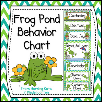 Frog Pond Themed Behavior Clip Chart