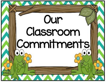 Frog Pond Themed Commitment Rules Chart