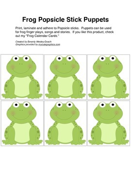Frog Popsicle Stick Puppets