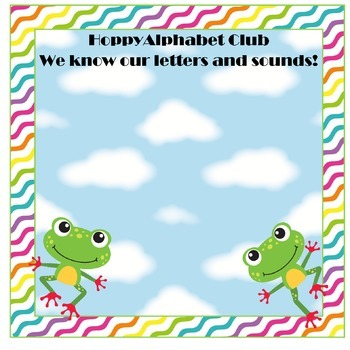 Frog Poster alphabet club