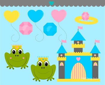 Frog Castle clipart commercial use