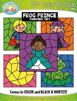 Frog Prince Color By Code Clipart {Zip-A-Dee-Doo-Dah Designs}