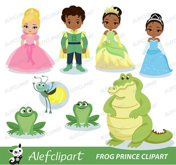 Frog Prince Digital Clipart For Personal And Commercial Use / INSTANT Download