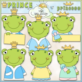Frog Prince & Princess 1 - Commercial Use Clip Art & Black & White Images