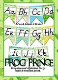 Frog Prince themed D'nealian print Alphabet banner