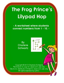 Frog Prince's Fairytale Numbered Lilypad Hop