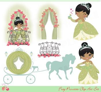Frog Princess Clip Art Set