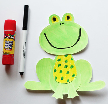 Frog Printable Craft Template
