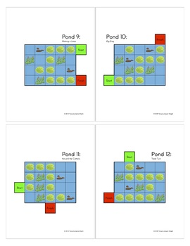 Frog Pond Programing STEM: Level 1 Sequences - An Unplugged Coding Activity