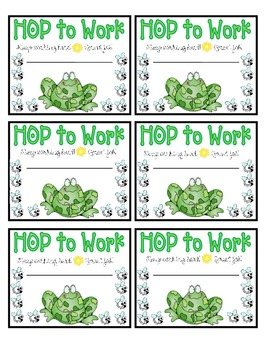 Frog Punch Cards