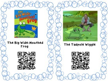 Frog QR codes for Ipads