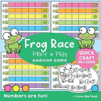 Frog Race Addition - {Printable Math Game}