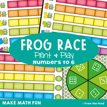 Frog Race - Math Print and Play Center Game