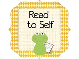 Frog Reading Center Signs