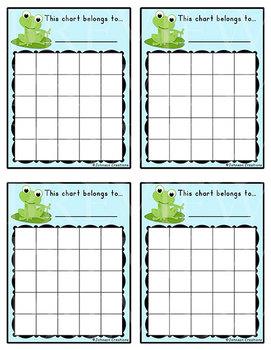 Frog Reward Charts