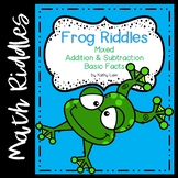 Frog Riddles -- Addition & Subtraction